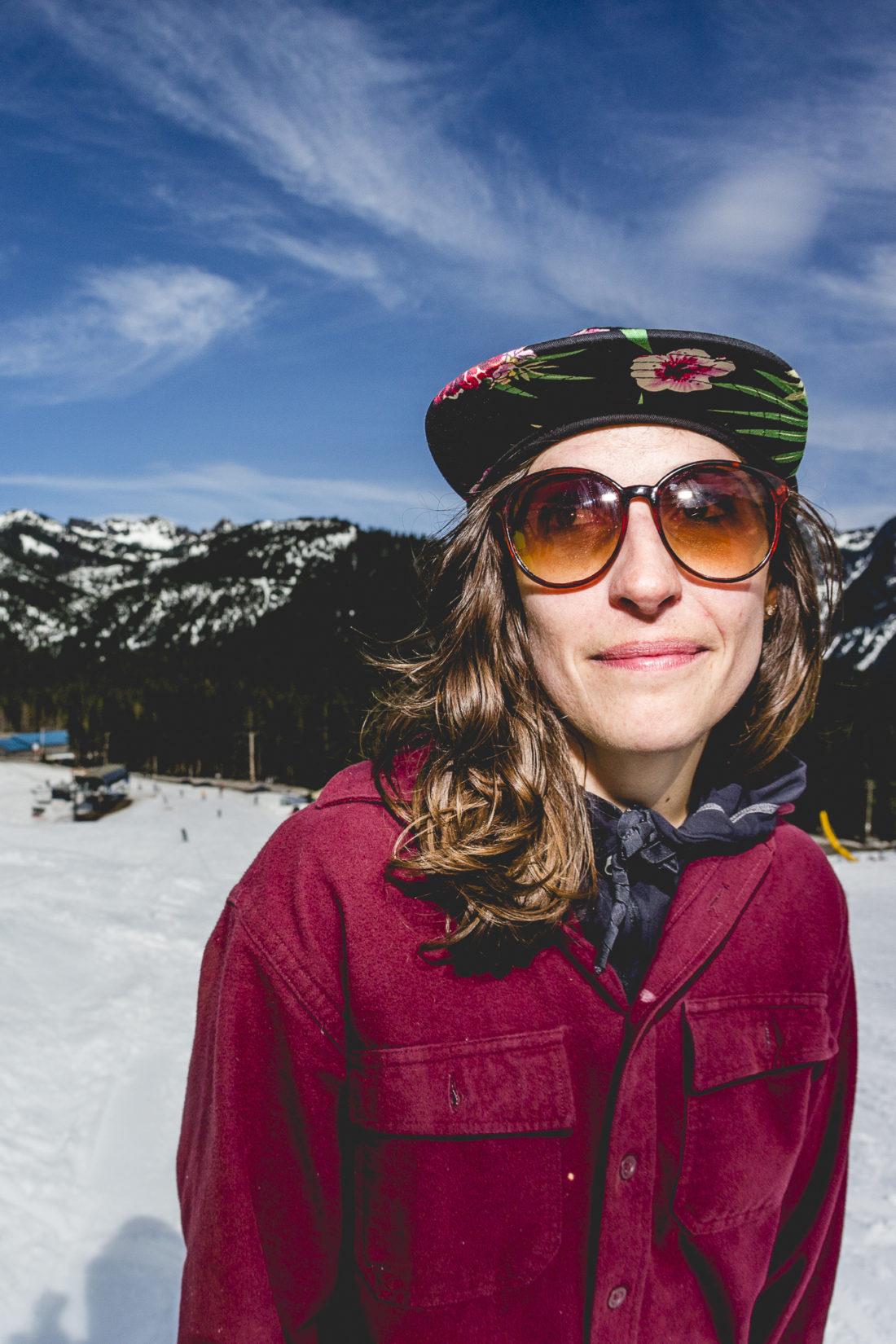 Ms. Erica Durtschi, professional corgi owner and skier
