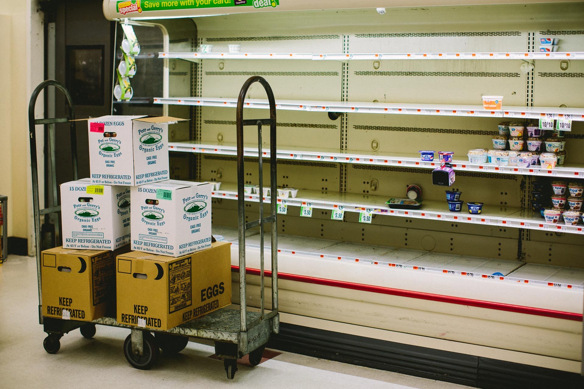 The North Quincy Stop and Shop ahead of Winter Storm Nemo
