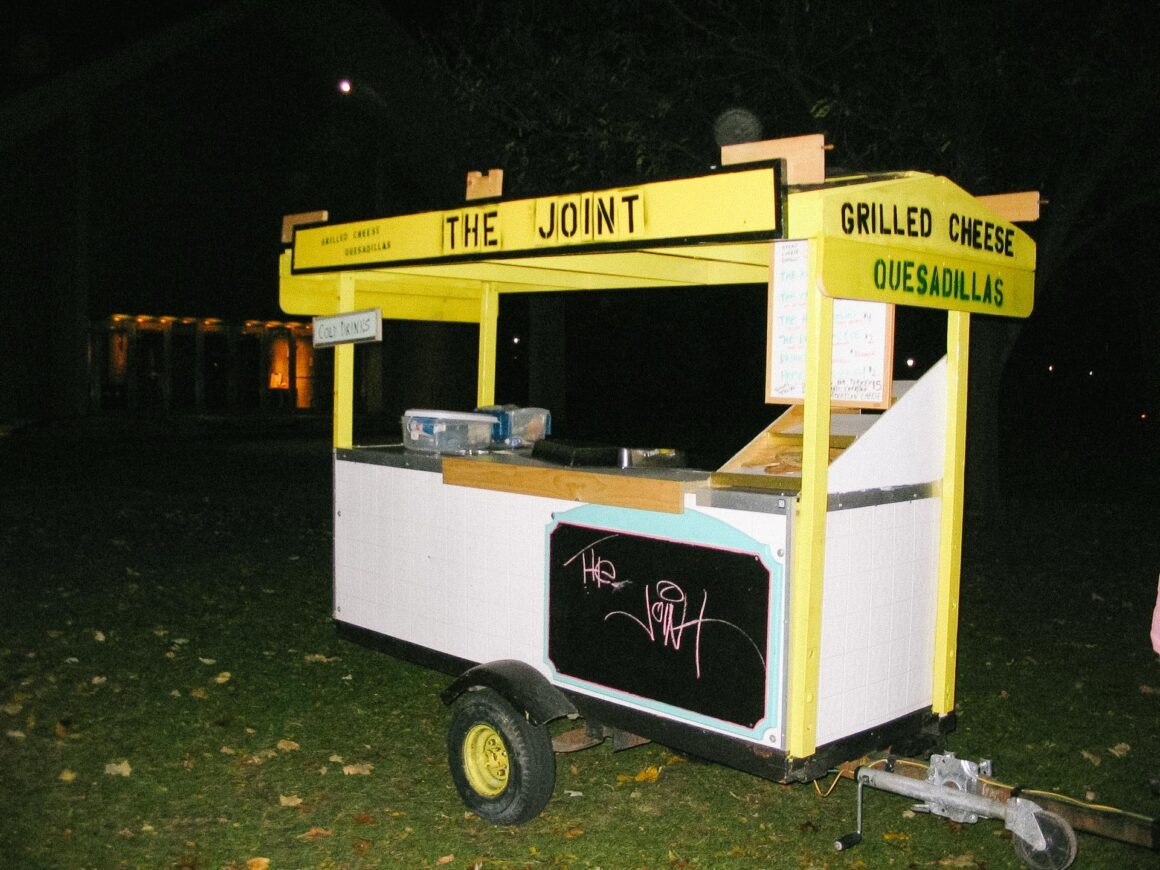 """Jason Levinthal's grilled cheese stand, """"The Joint."""""""
