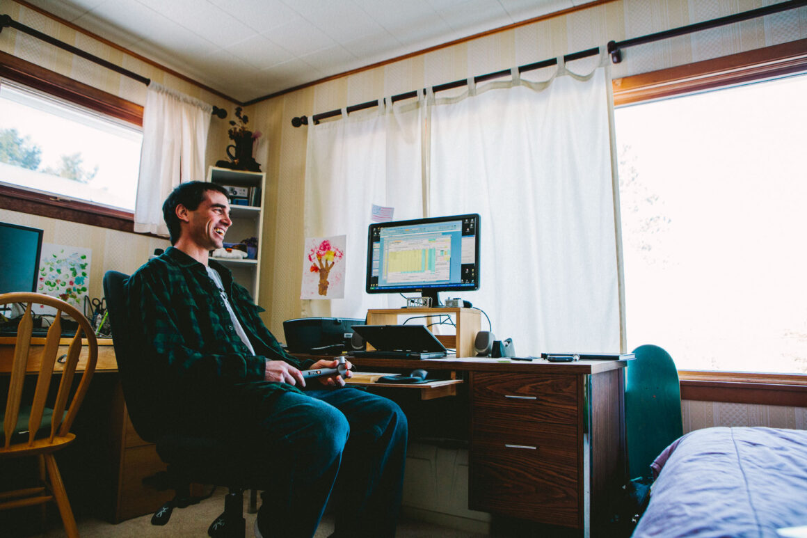 Jason Levinthal in his home office